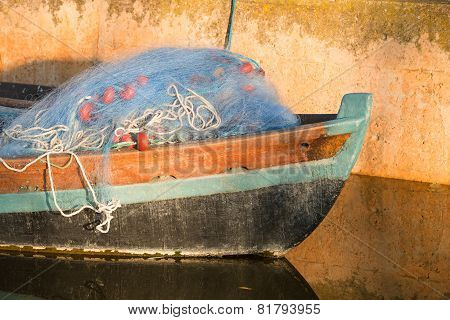 Boat With Fishing Nets