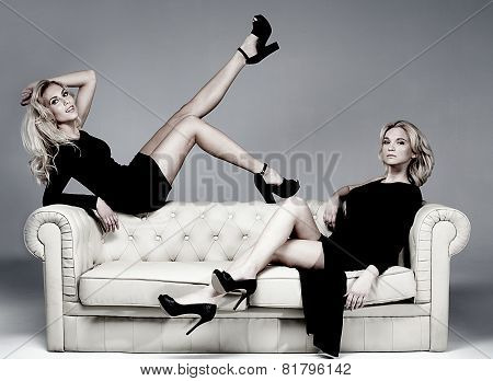 Elegant Two Woman Posing.