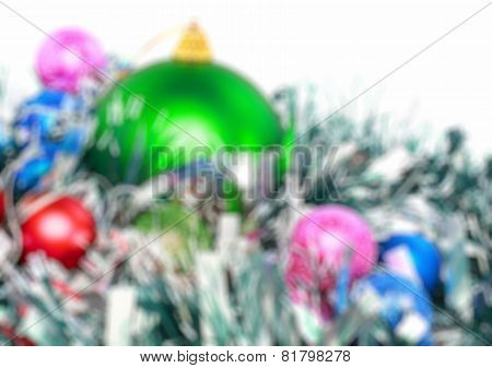 Christmas,new Year Decoration-balls, Green Tinsel