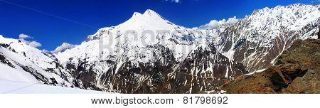 Beautiful View Of Mountaint Elbrus - Highest Peak Of Europe