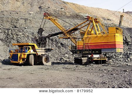 Extraction Of Iron Ore In Career
