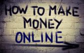 stock photo of guru  - How To Make Money Online Concept Handwritten With Chalk  - JPG