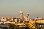 picture of san juan puerto rico  - Old church in San Juan Puerto Rico in wam afternoon light - JPG