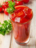 picture of mary  - Bloody Mary Alcoholic Drink with fresh tomatoes - JPG