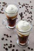stock photo of irish  - irish coffee in a glass and coffee beans - JPG