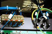 image of telecommunications equipment  - Telecommunication equipment in a big datacenter - JPG