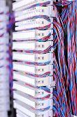 picture of telecommunications equipment  - Telecommunication equipment E1 cross in a datacenter of mobile operator - JPG