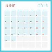 picture of monday  - Calendar 2015 vector flat design template - JPG
