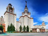 image of mater  - Lomonosov Moscow State University Main Building main entrance. ** Note: Soft Focus at 100%, best at smaller sizes - JPG