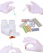picture of syringe  - Collage of medicine - JPG
