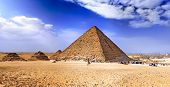 picture of the great pyramids  - Great Pyramid of Giza called the pyramid of Pharaoh Khufu - JPG