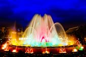 stock photo of fountains  - The famous Montjuic Fountain in Barcelona - JPG