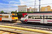 image of gare  - Suburban railway train at the railways station - JPG