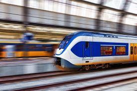 pic of passenger train  - Modern Fast Passenger Train - JPG
