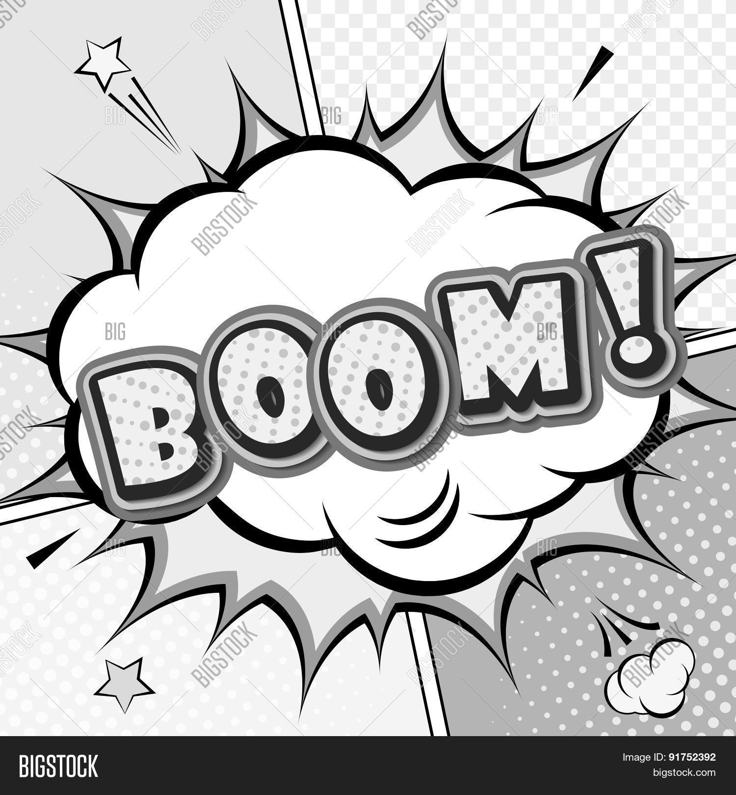 Free Comic Book Day Values: Boom. Vector Comic Book, Speech Vector & Photo