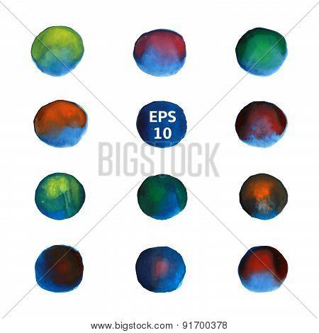 Blue circles set