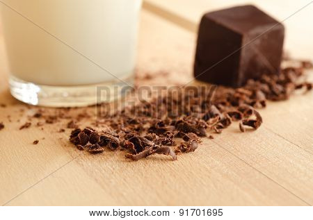 Milk and chocolate