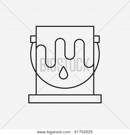Paint Bucket Line Icon