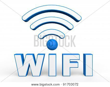 3d wifi text and signals