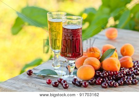 Sweet Wine With Fruits
