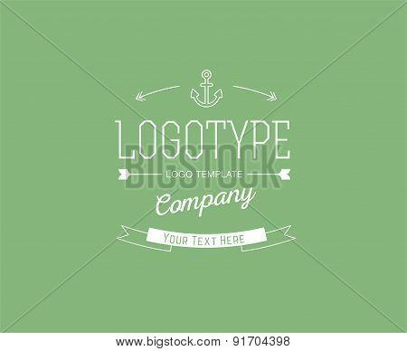 Abstract vector logo design elements. Arrows, labels, ribbons, symbols. Vector illustration