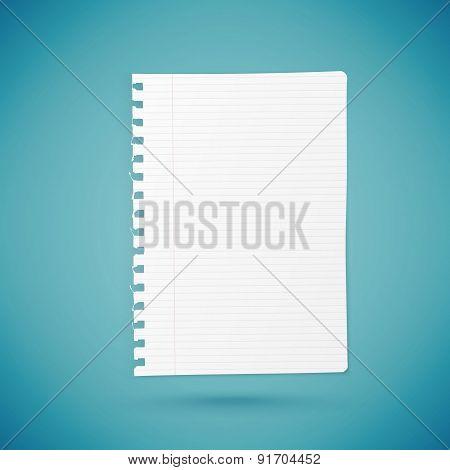 Empty Paper Sheet.
