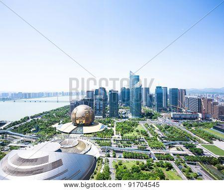 Hangzhou,China-May 12,2015:landmark and landscape of hangzhou.