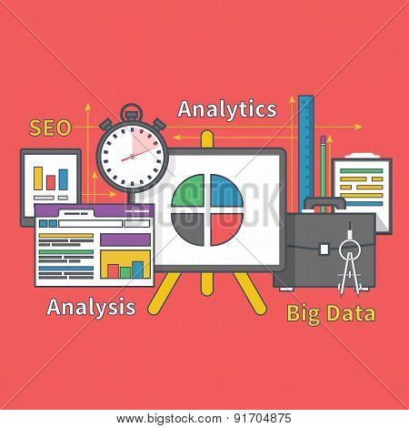 Stand with Charts and Parameters. Big Data Seo