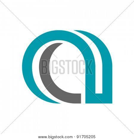 vector decorative letter a icon