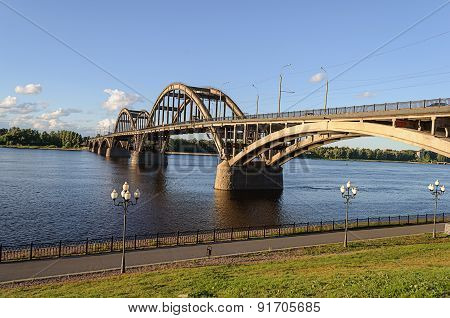 Road Bridge In Rybinsk, Russia