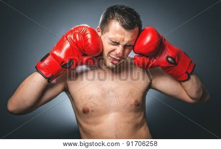 Funny Beaten Boxer