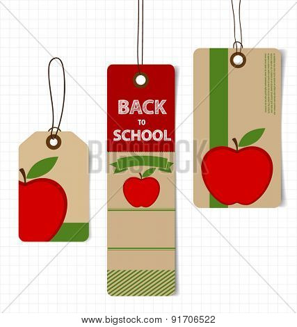 Sale Coupon, voucher, tag. Welcome back to school, vector illustration.