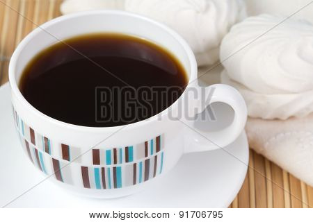 Cup Of Coffee And Marshmallow