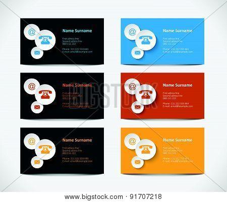 set of visiting cards, illustration