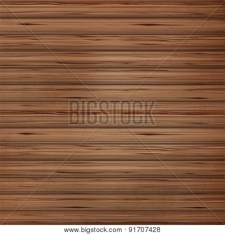 Brown wood plank background Vector illustration