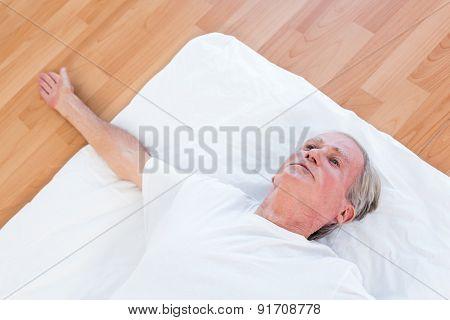Man having leg massage in medical office