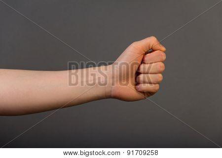 Human left fist