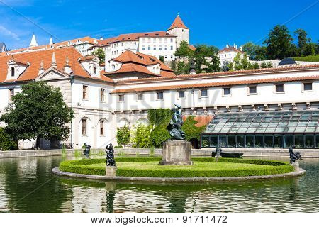 Valdstejnska Garden and Prague Castle, Prague, Czech Republic