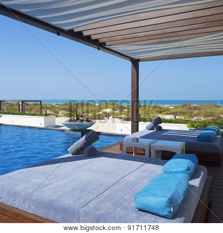 Bed Swimming Pool And Beach