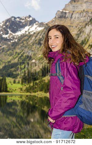 Female Tourist Hiking