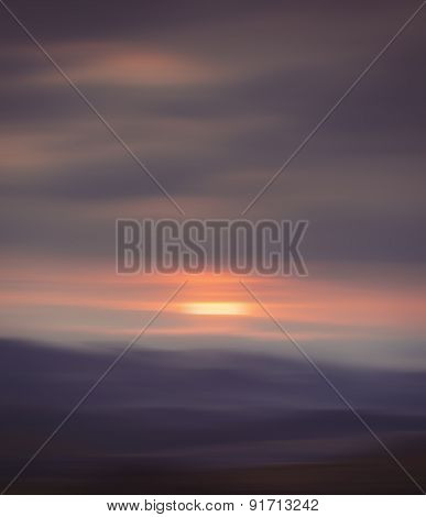 Blurred Sunrise Background