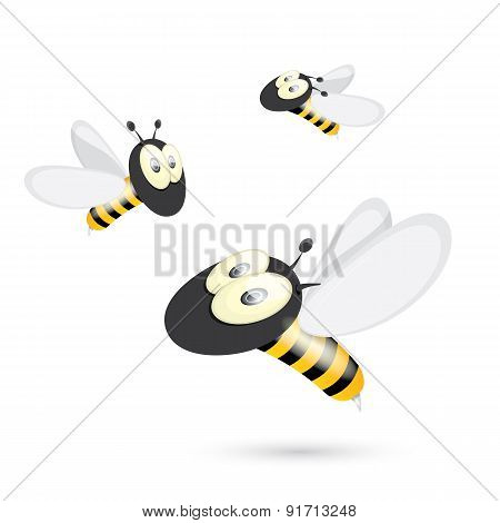 cartoon cute bright baby bee. vector