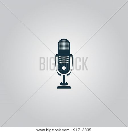 Simple retro microphone