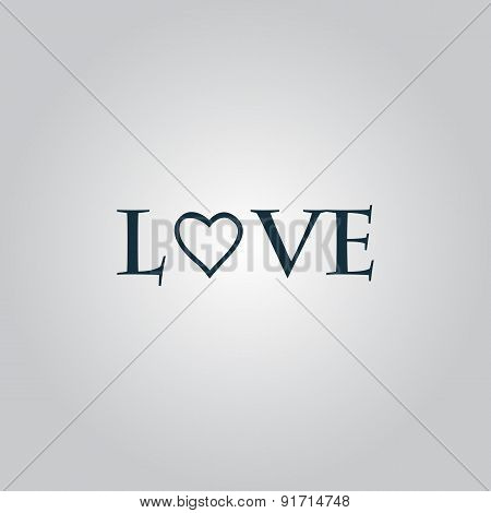 Stylized text Love