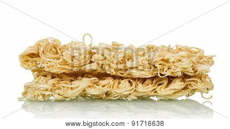 Raw uncooked noodles