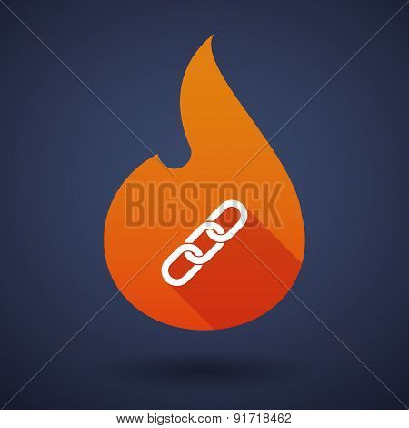 Flame Icon With A Chain