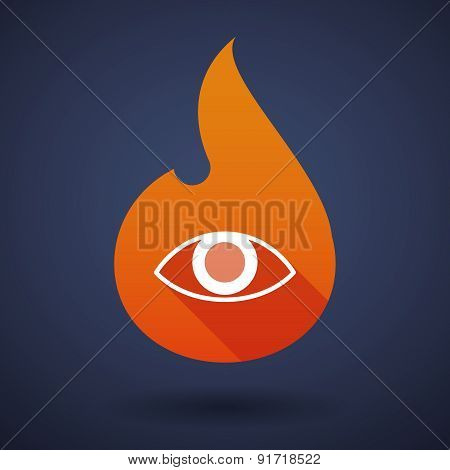 Flame Icon With An eye