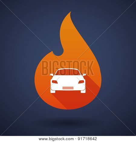 Flame Icon With A Car