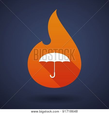 Flame Icon With An Umbrella
