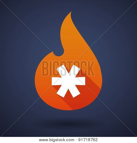 Flame Icon With An Asterisk